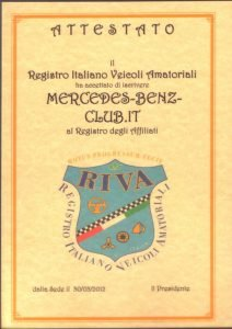 Mercedes-Benz-Club.it Affiliazione al R.I.V.A.